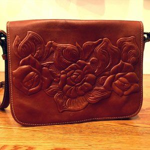 Patricia Nash Embossed Leather Crossbody bag
